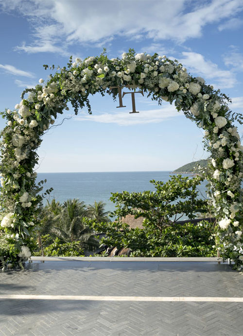 Photo by Quangpraha boho wedding bohemian style reception ceremony floral archway