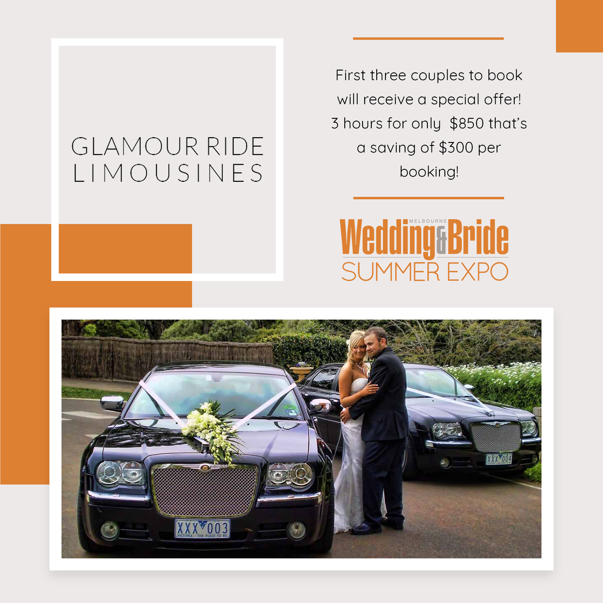 Perth Bridal Expo Competition Glamour Ride Limousines