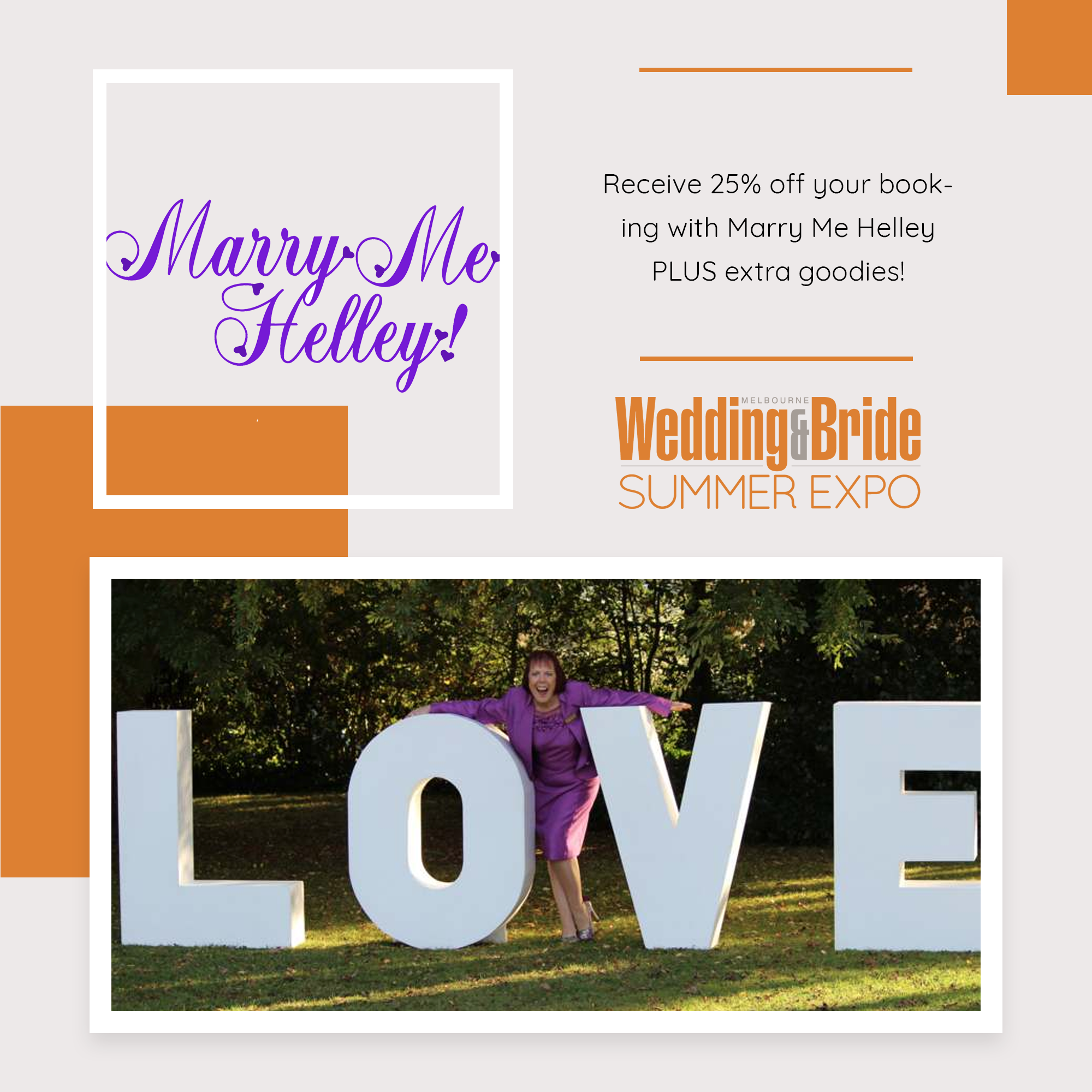 Melbourne Bridal Expo Competition Marry-Me-Helley