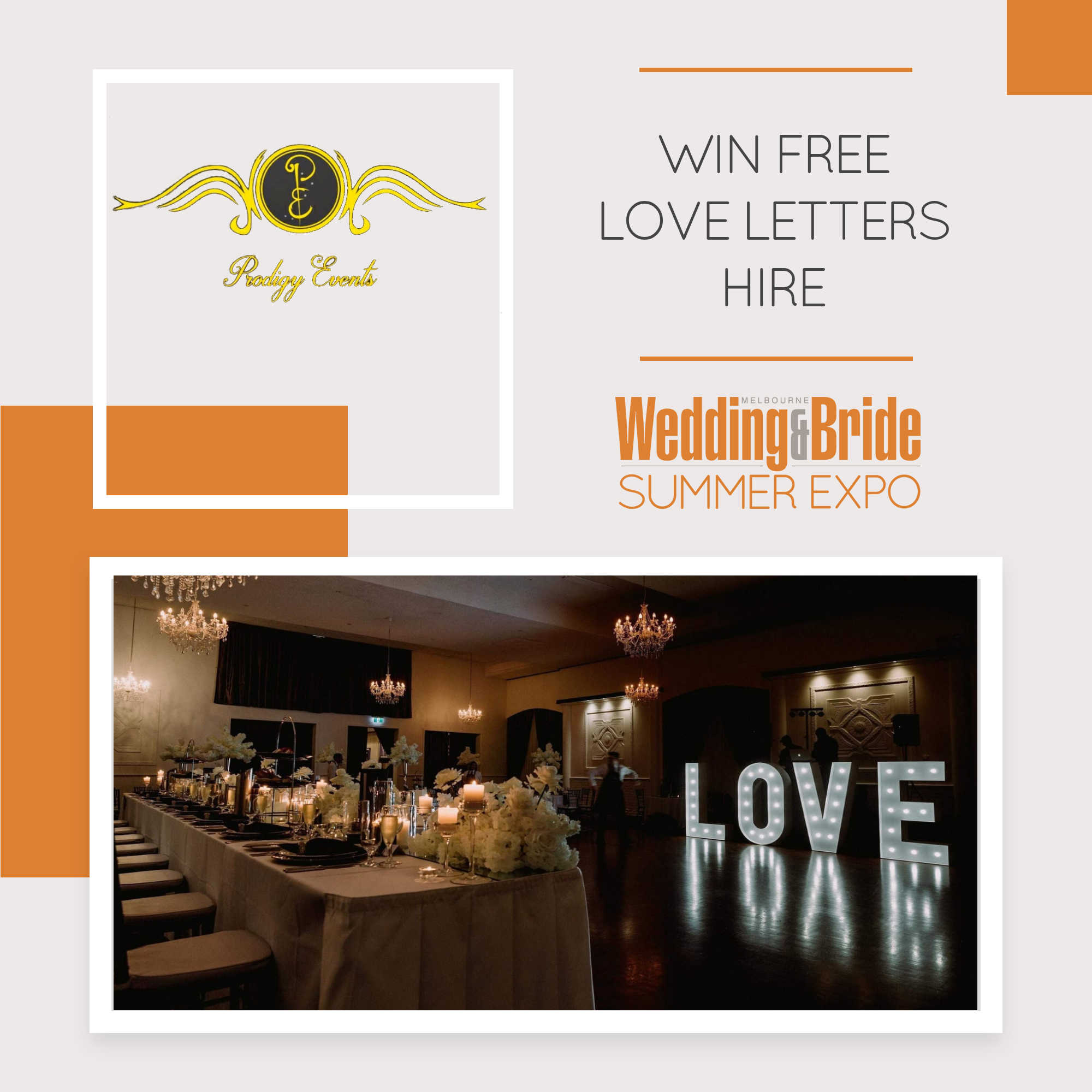 Prodigy Events - Melbourne Bridal Expo 2020